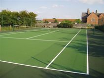 Pressure Washed Tennis Court